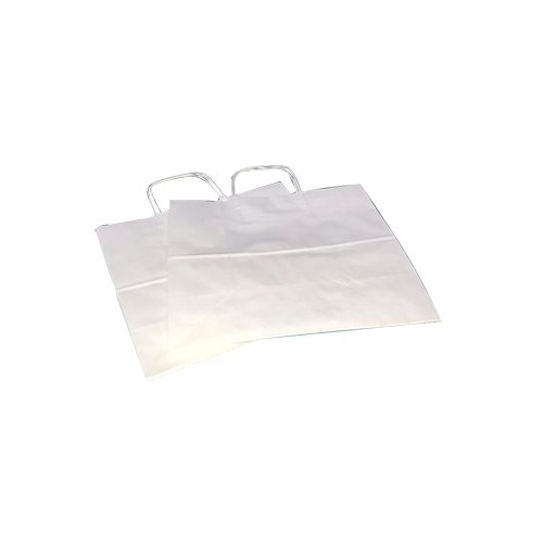 Paper Bags-White-Large(Twisted handl...