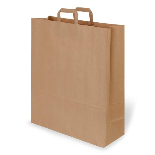 PaperBag-Brown -Large(Flat Handles)