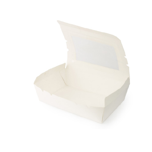 White Lunch Box-Window-Small-10Psc