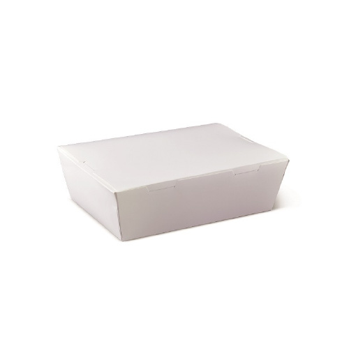 White Lunch Box-Small-10Psc