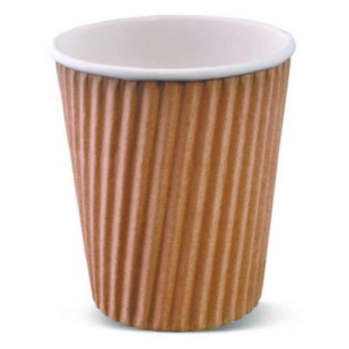 Coffee Cup Wripple 23.6CL-BROWN-40ps...