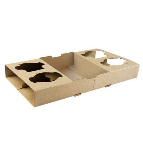 Hot Cup Holding Tray Corrugated 4 Cu...