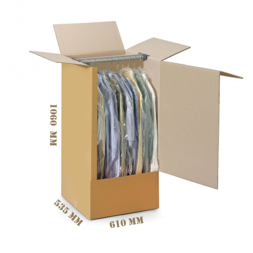 3Psc Wardrobe Box With Rod- Side Ope...